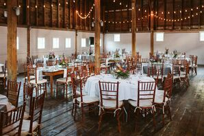 Rehearsal Dinner in Barn with Chiavari Chairs