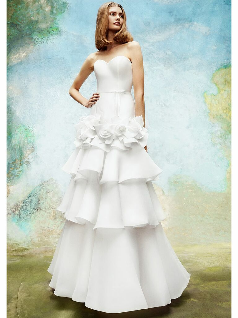 Viktor&Rolf wedding dress trumpet gown with ruffled tiered skirt