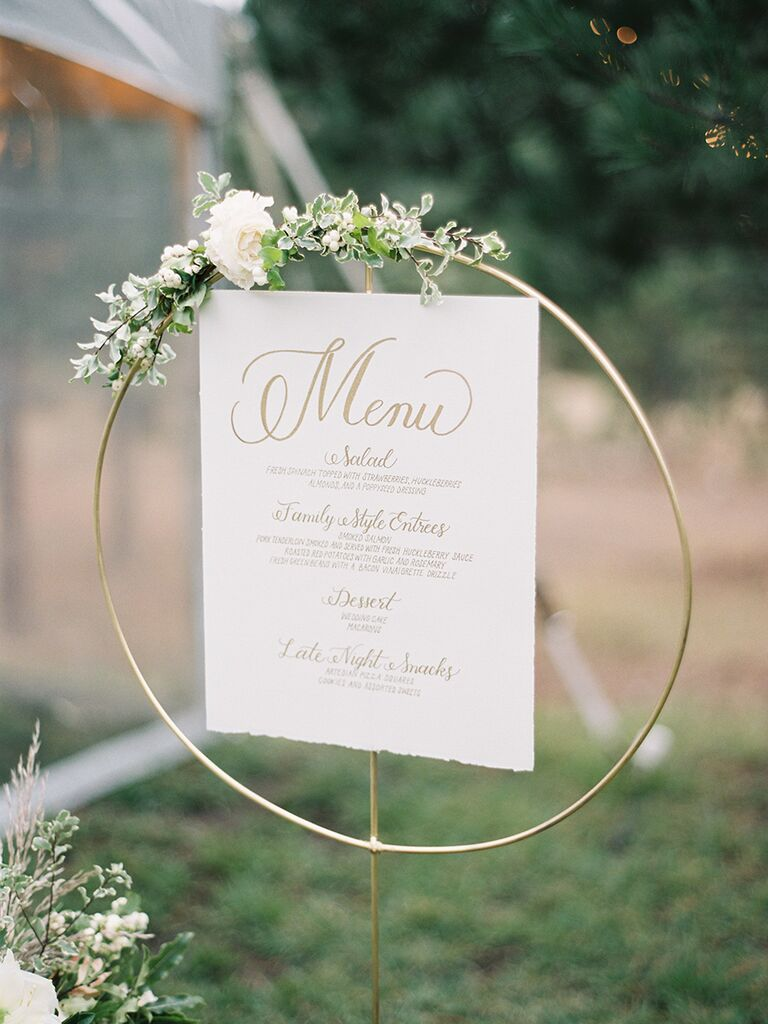 Menu ideas for a creative wedding reception idea - wedding details not to miss