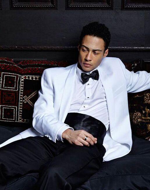 BLACKTIE HAMILTON White Wedding Tuxedo White Tuxedo