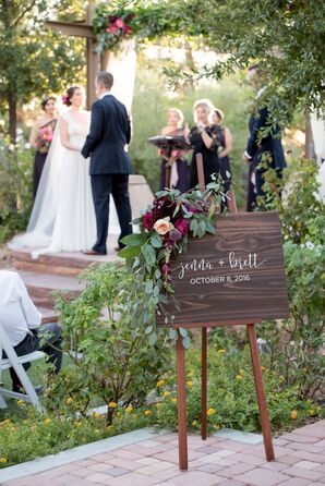 Rustic Outdoor Ceremony in Botanical Gardens