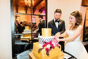 Whimsical Gold Wedding Cake