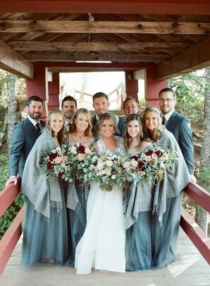 Fall Wedding Party at Lutsen Resort on Lake Superior in Minnesota