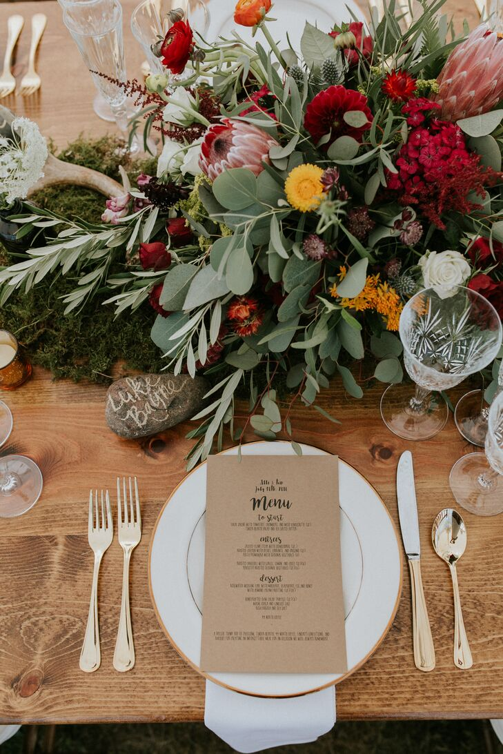 Moss and Lush Fall Floral Centerpiece