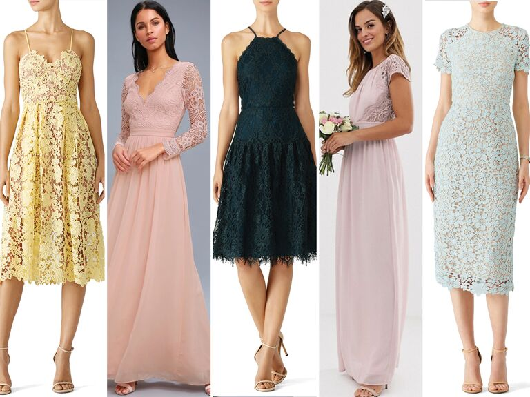 Affordable lace bridemsaid dresses