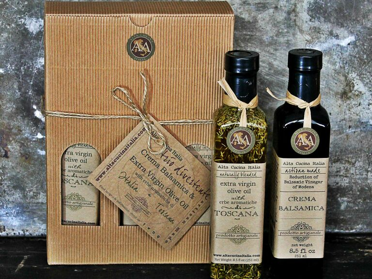 olive oil and vinegar gift set 17th anniversary gift ideas
