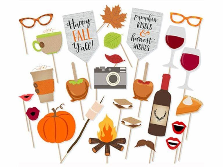 Fall wedding photo booth props