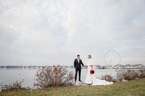 Washington National Harbor Wedding Portrait