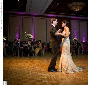 Andrew and Harini chose to dance to Something, by The Beatles, because it was simple and romantic.