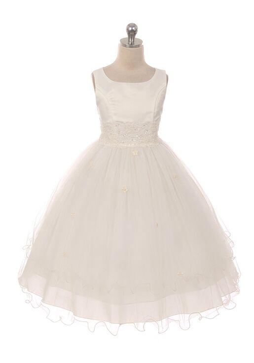 Kid's Dream 198 White,Ivory Flower Girl Dress