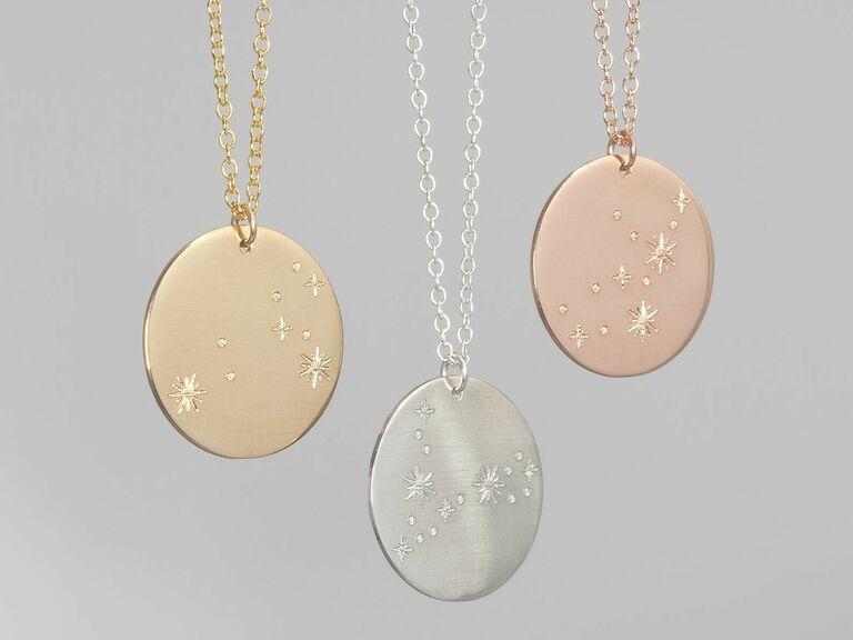 zodiac necklace birthday gift for wife