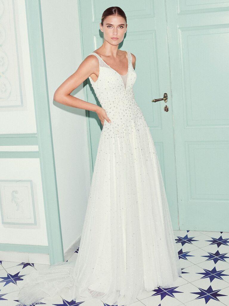 Jenny Packham A-line wedding dress with beading