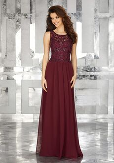 MGNY 71623 Brown Mother Of The Bride Dress