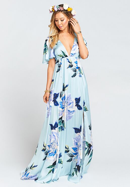Show Me Your Mumu Faye Flutter Maxi Dress Mint To Be