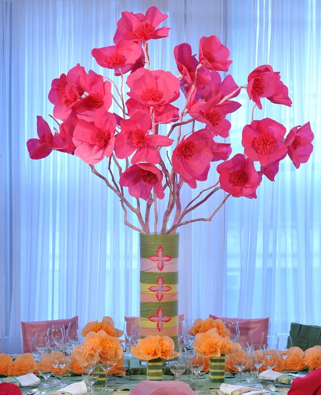 A tissue paper flower centerpiece whimsical centerpiece mightylinksfo