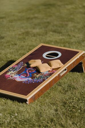 DIY Colorful Cornhole Board