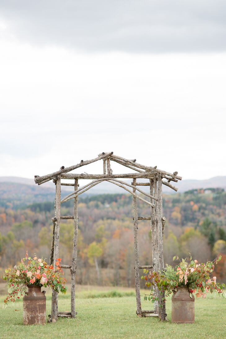 Outdoor Wooden Ceremony Arch