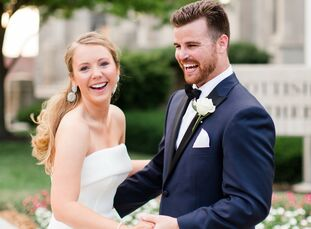 Patia and George Storms hosted an elegant wedding at the Scottish Rite Cathedral in the heart of Indianapolis. They introduced the celebration's forma