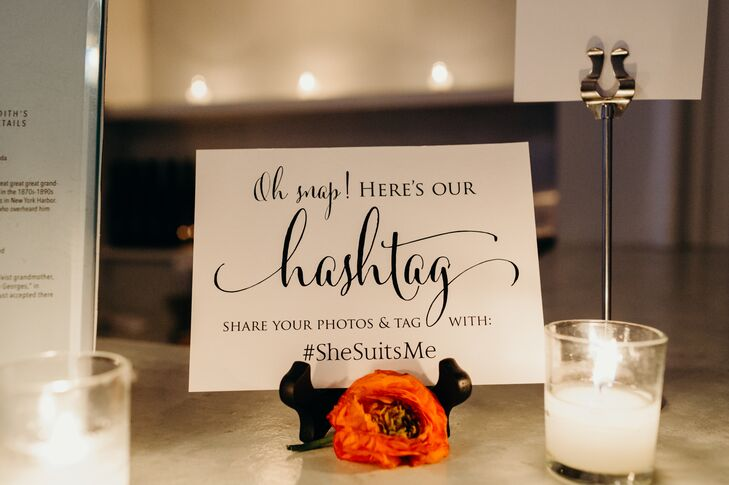 Custom Wedding Hashtag