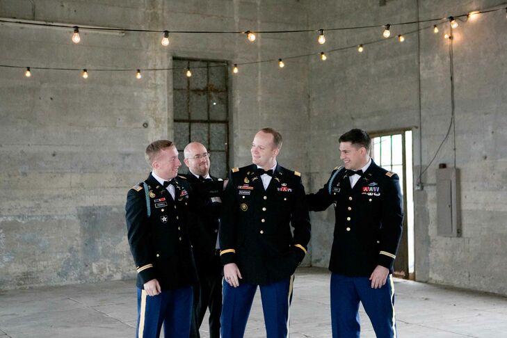Groomsmen in Army Uniforms