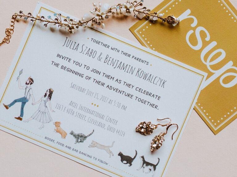 how to choose wedding stationery design custom illutration