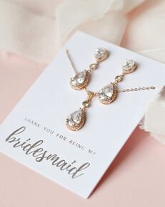 USABride Madeline CZ Bridesmaid Pendant Set (JS-1694-BR) Wedding Necklace photo