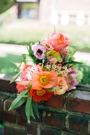 Bright Poppy and Peony Bridal Bouquet