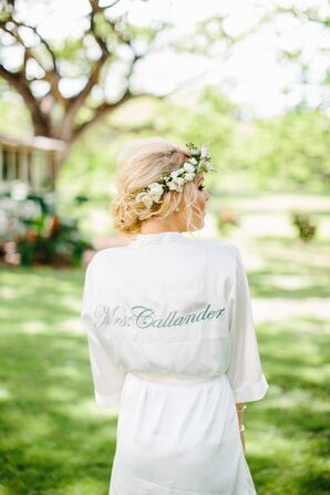 Custom Dressing Robes for Bride and Bridesmaids