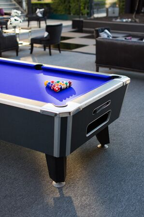 Purple Pool Table at Reception