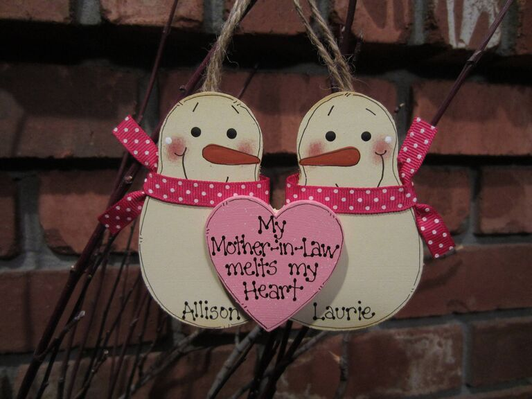 Custom ornament Christmas gift for mother-in-law