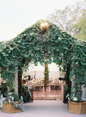 Greenery Tent Entrance for Wedding at The Clifton Inn in Charlottesville, Virginia