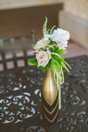 DIY Gold Wine Bottle Table Centerpieces