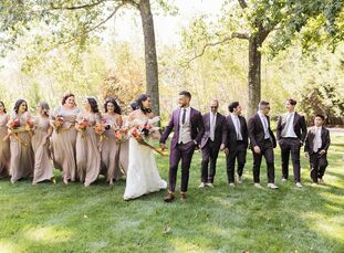 "As travel lovers, Nicole and Peter Baiocco wed at Chatfield Hollow Bed and Breakfast because ""the environmental landscape felt as though you were visi"