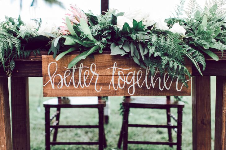 Hand-Lettered 'Better Together' Wooden Sign