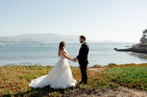 Bride and Groom at The Lodge at Pebble Beach in California