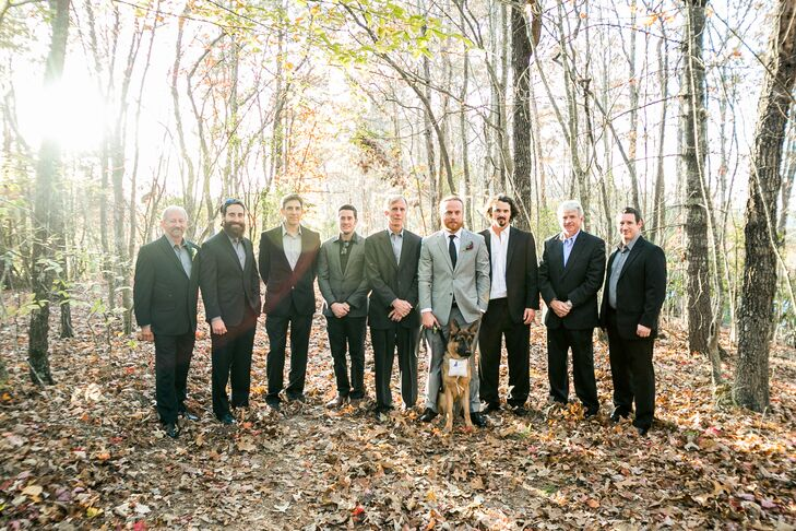 Mixed Fall Groomsmen Attire