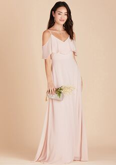 Birdy Grey Jane Convertible Dress in Pale Blush V-Neck Bridesmaid Dress