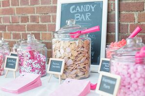 Pink and White Candy Bar Favors