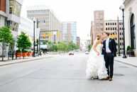 Jennifer Pluymert (23 and a neonatal nurse) and David Rietema (23 and a business strategist) held their wedding at the Grand Rapids Public Museum in G