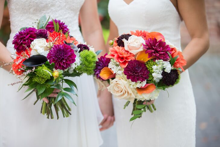 Bright Bouquet of Dahlias, Lilies, Hydrangeas and Roses