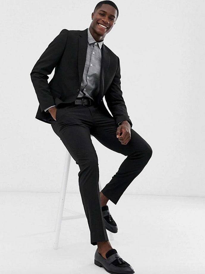 Black suit jacket and pants