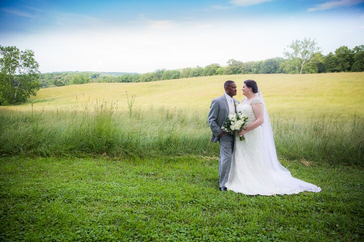 Kathryn Yarbrough (31 and a teacher) and Theodore Whitney (44 and a teacher) wanted their wedding to be classic and comfortable