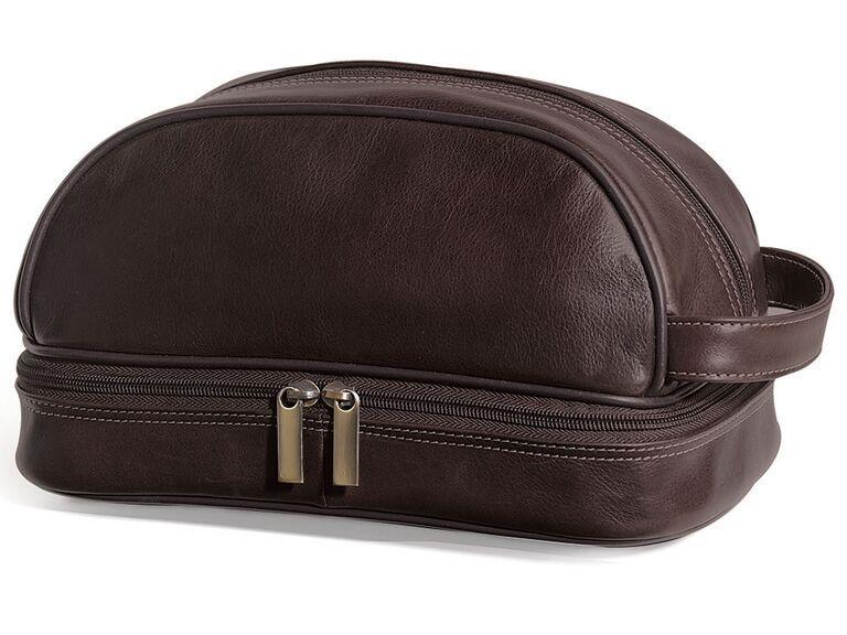 The GI's leather toiletry kit best groomsmen gift