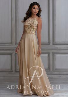 Adrianna Papell Platinum 40115 Halter Bridesmaid Dress