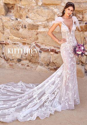 KITTYCHEN Couture NOVA, K1975A Sheath Wedding Dress