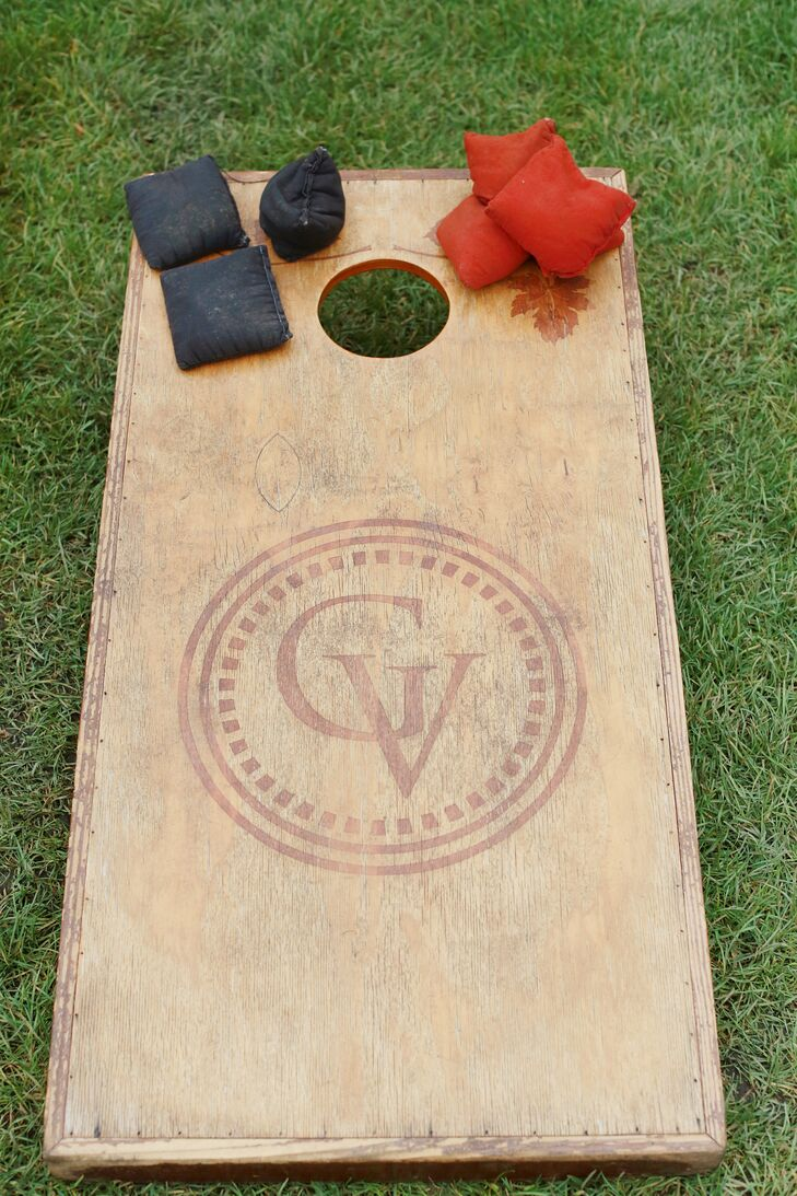 Monogrammed Wood Corn Hole Board