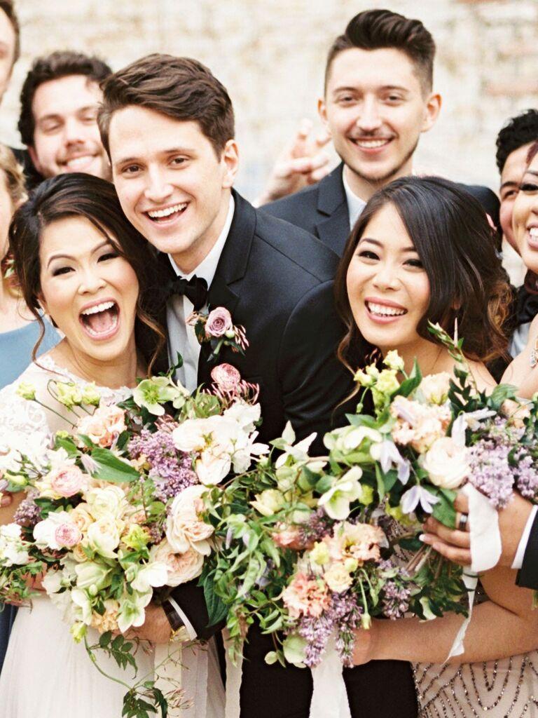 Bridesmaid updos loose bun