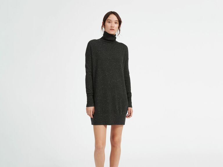 Everlane gray turtleneck dress gift for mother-in-law