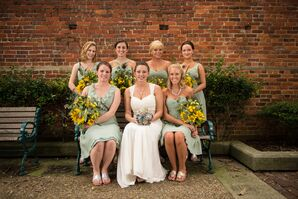 Mint and Yellow Bridal Party