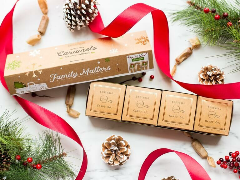 Delicious caramel gift set for son-in-law